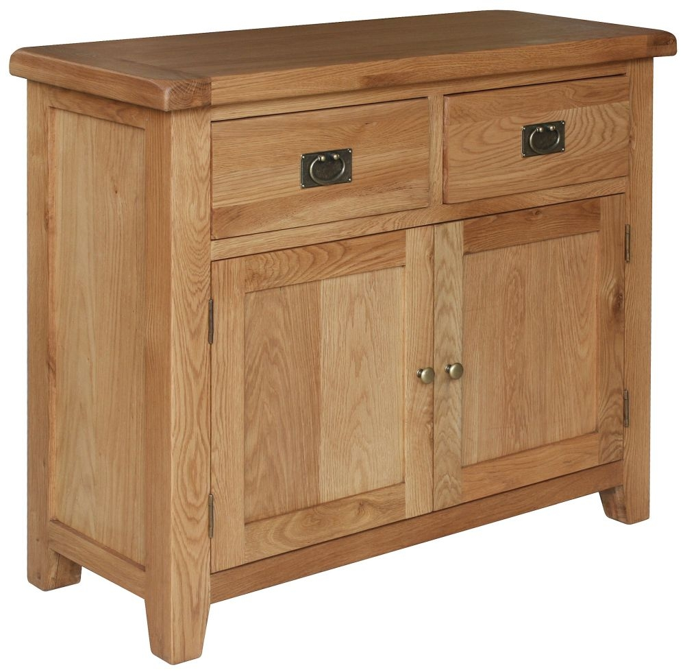 Lyon Oak 2 Door 2 Drawer Narrow Sideboard