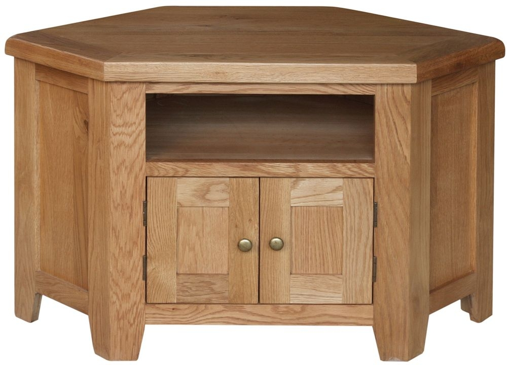 Lyon Oak 2 Door Corner TV Unit