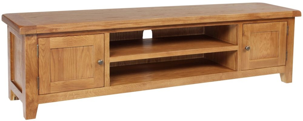 Lyon Oak TV Unit - Large
