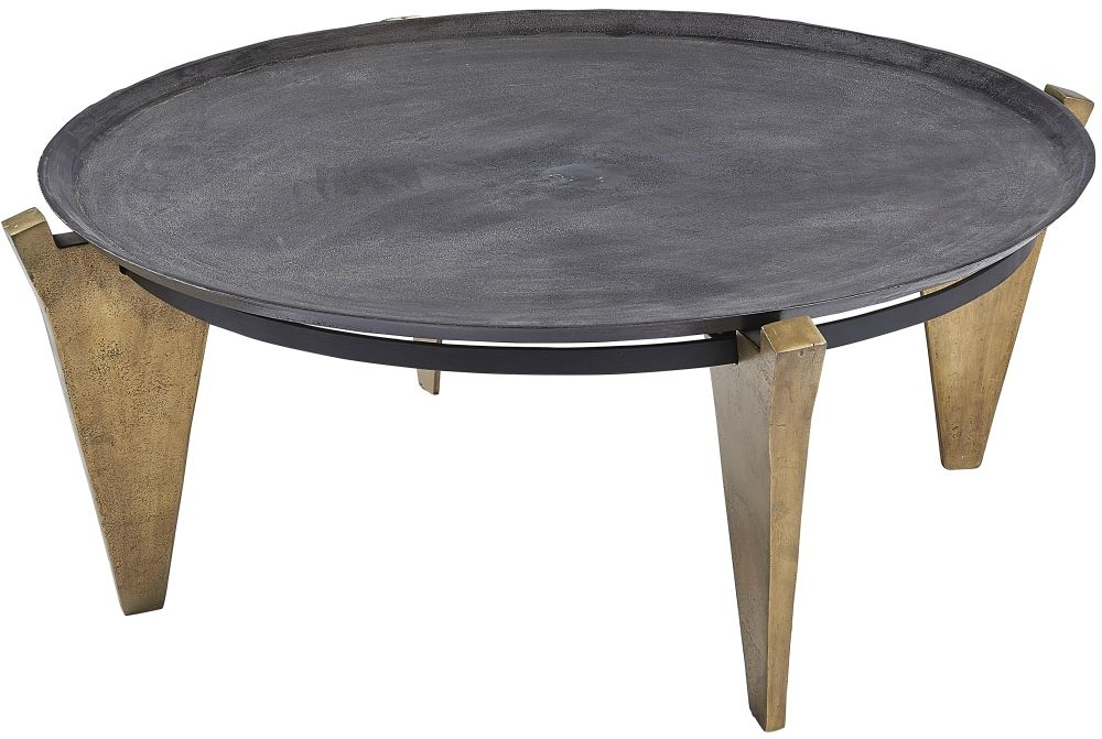 Plano Round Bronze Top Coffee Table