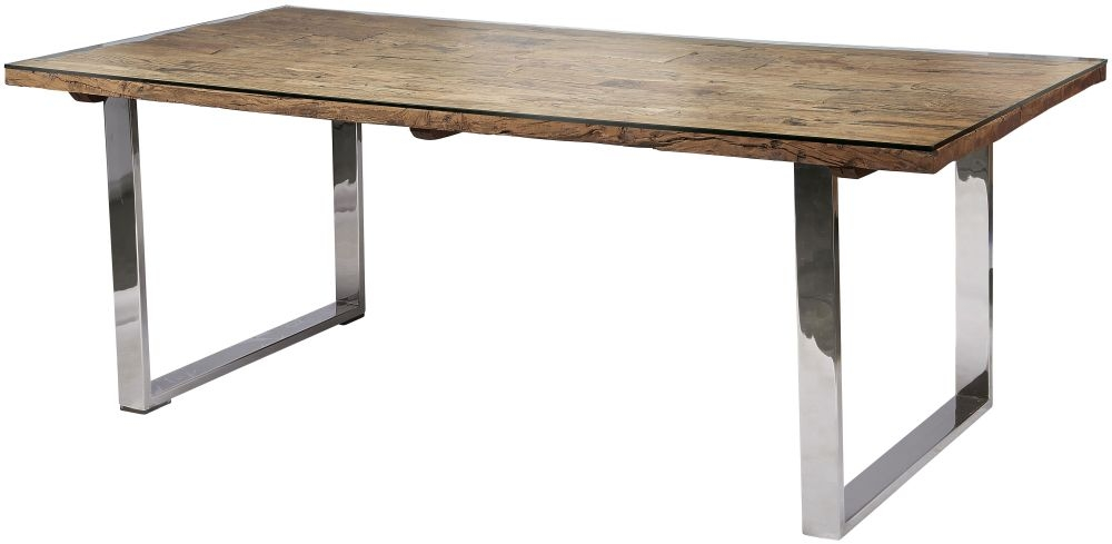Railway Sleeper Wood Dining Table