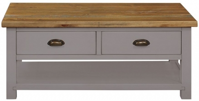 Regatta Grey Painted 2 Drawer Coffee Table