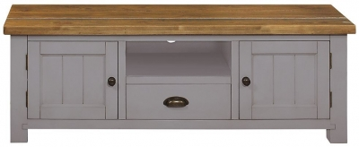 Regatta Grey Painted 2 Door 1 Drawer TV Unit
