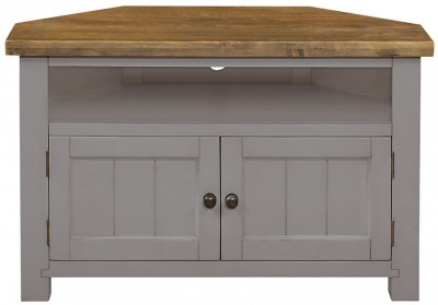 Regatta Grey Painted Corner TV Unit
