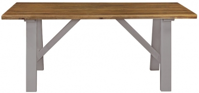 Regatta Grey Painted Trestle 180cm Dining Table