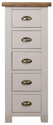 Regatta Grey Painted 5 Drawer Weldona Chest
