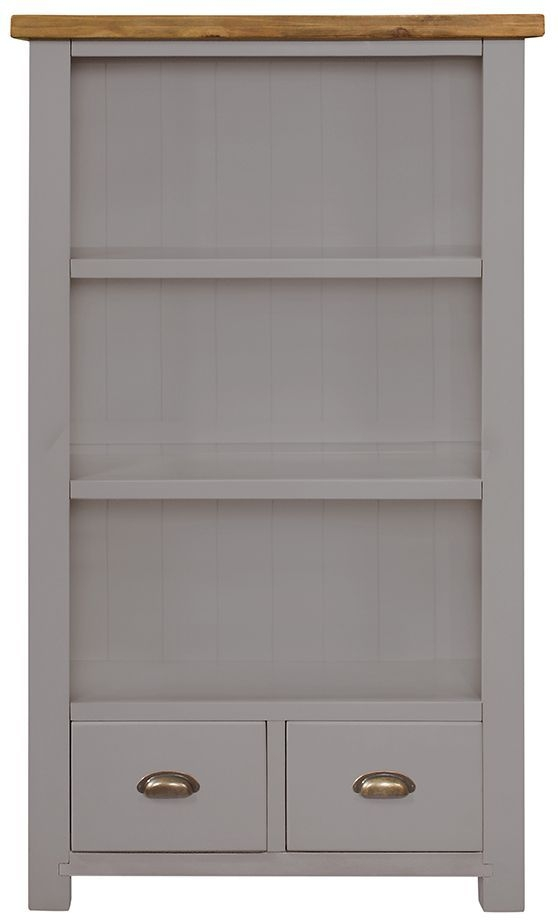 Regatta Grey Bookcase - 2 Shelves