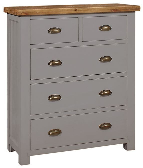 Regatta Grey Chest of Drawer - 2+3 Drawer