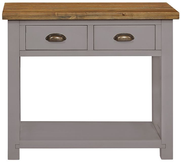 Regatta Grey Painted 2 Drawer Console Table
