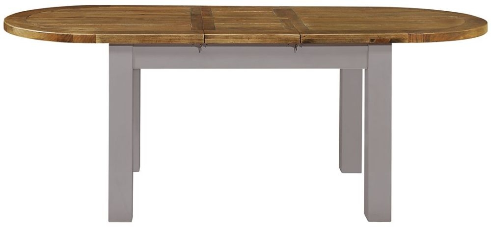 Regatta Grey Oval Extending Dining Table - 180cm-220cm