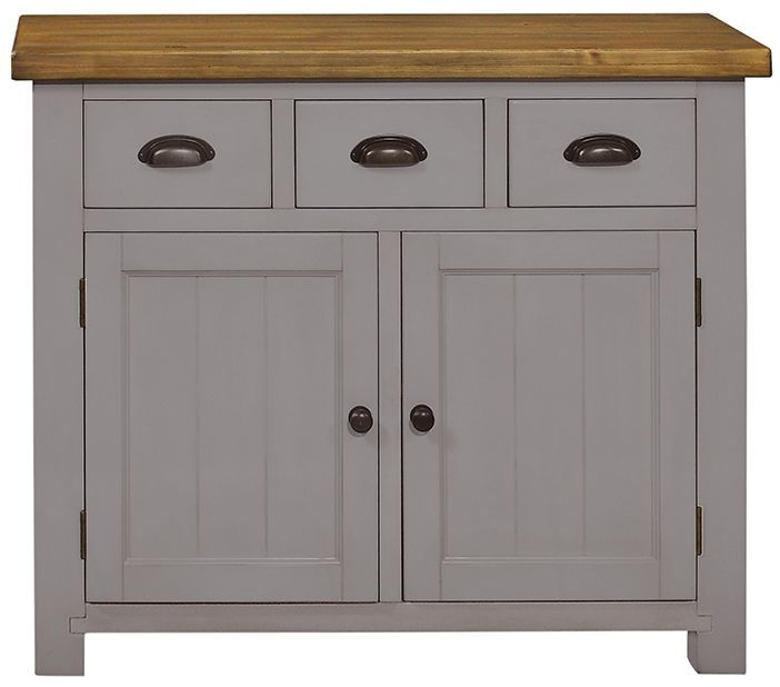 Regatta Grey 2 Door 3 Drawer Narrow Sideboard