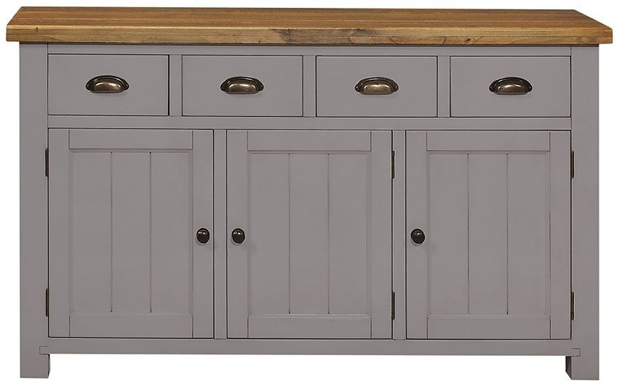 Regatta Grey Sideboard - 3 Door 4 Drawer