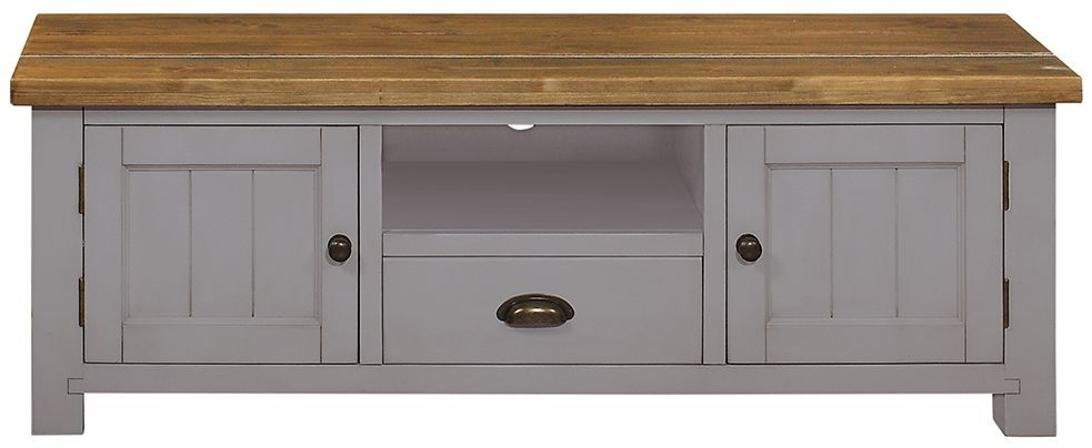Regatta Grey TV Unit - 2 Door 1 Drawer