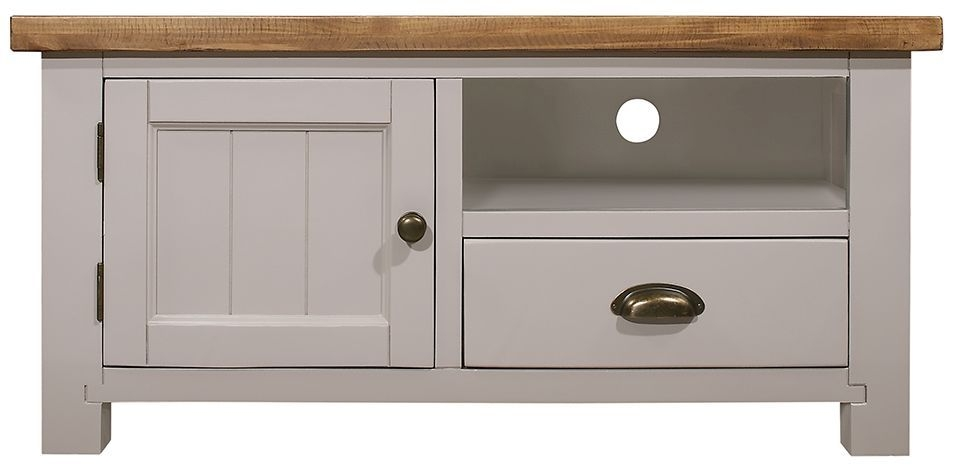 Regatta Grey 1 Door 1 Drawer Small TV Unit