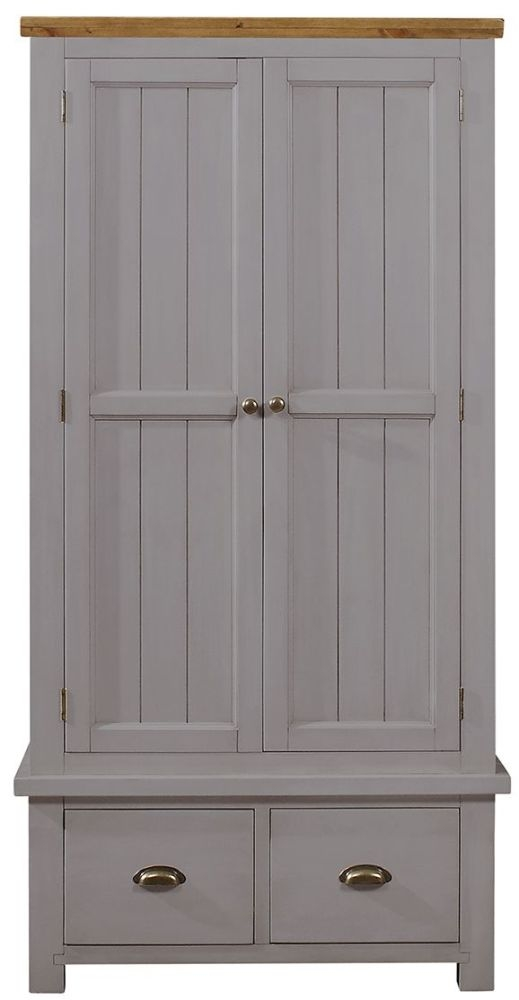 Regatta Grey Wardrobe - 2 Door 2 Drawer