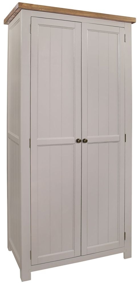 Regatta Grey 2 Door Double Wardrobe