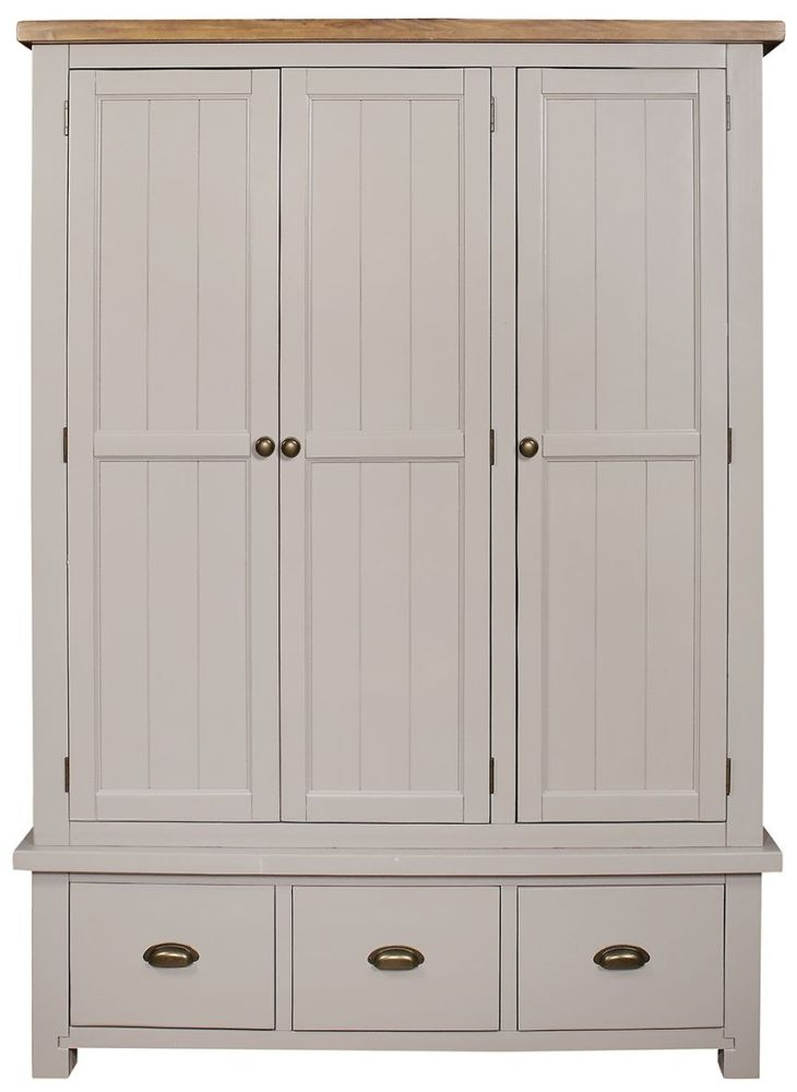 Regatta Grey 3 Door 3 Drawer Triple Wardrobe