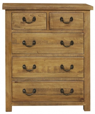 Regatta Rustic Pine 2+3 Drawer Chest