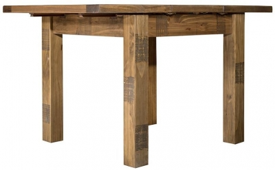 Regatta Rustic Pine Square 90cm-130cm Extending Dining Table