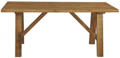 Regatta Rustic Pine Trestle 180cm Dining Table