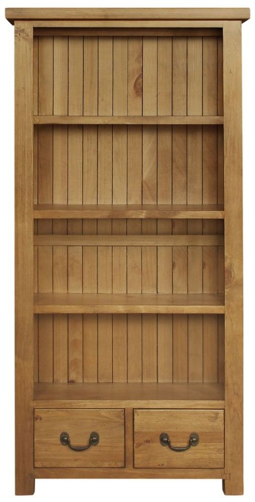 Regatta Rustic Pine 2 Drawer Large Bookcase