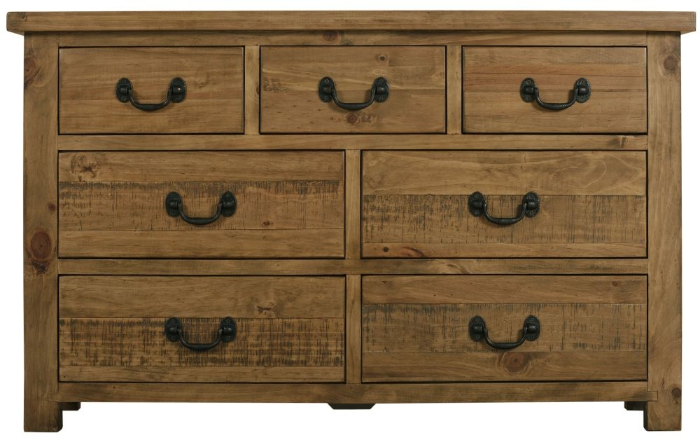 Regatta Rustic Pine Chest of Drawer - 3+4 Drawer