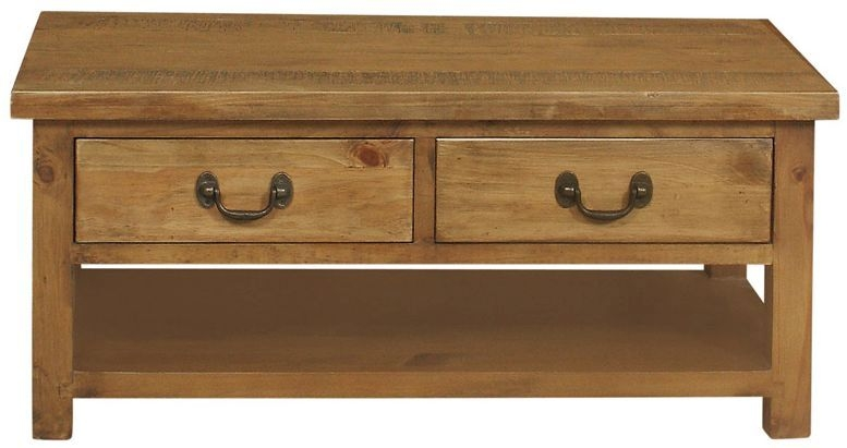 Regatta Rustic Pine 2 Drawer Coffee Table