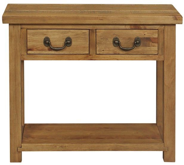 pine console table. Regatta Rustic Pine Console Table - 2 Drawer S