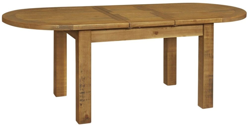 Regatta Rustic Pine Oval Extending Dining Table - 180cm-220cm