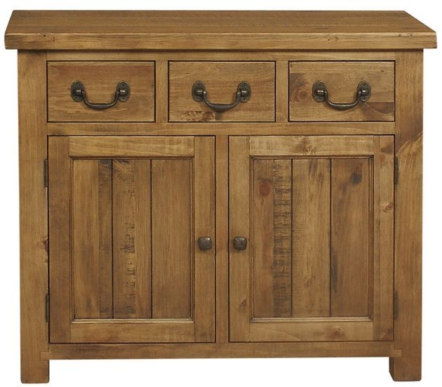 Regatta Rustic Pine 2 Door 3 Drawer Narrow Sideboard