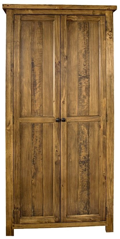 Regatta Rustic Pine Wardrobe - 2 Door