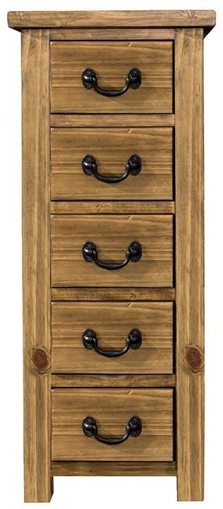 Regatta Rustic Pine Wellington Chest of Drawer - 5 Drawer