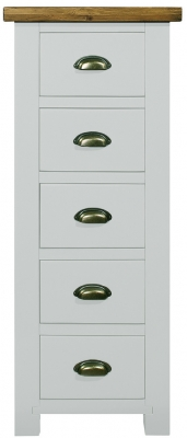 Regatta White Painted 5 Drawer Weldona Tall Chest