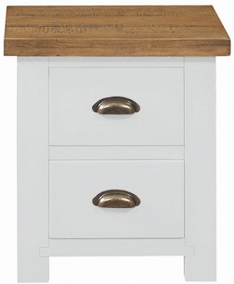 Regatta White Painted Bedside Cabinet