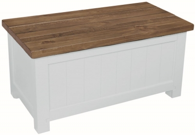 Regatta White Painted Blanket Box
