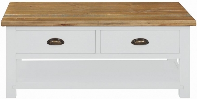 Regatta White Painted 2 Drawer Coffee Table
