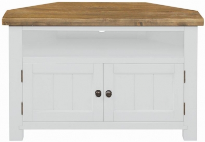 Regatta White Painted Corner TV Unit