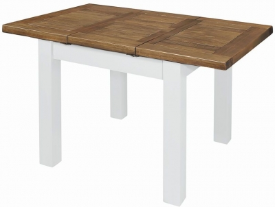 Regatta White Painted 90cm-130cm Extending Dining Table