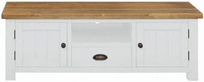 Regatta White Painted 2 Door 1 Drawer TV Unit