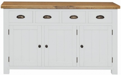Regatta White Painted 3 Door 4 Drawer Sideboard