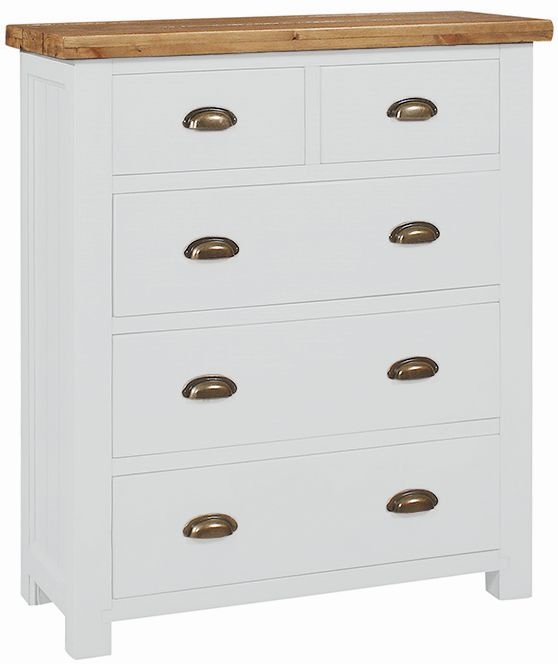 Regatta White Painted 2+3 Drawer Chest