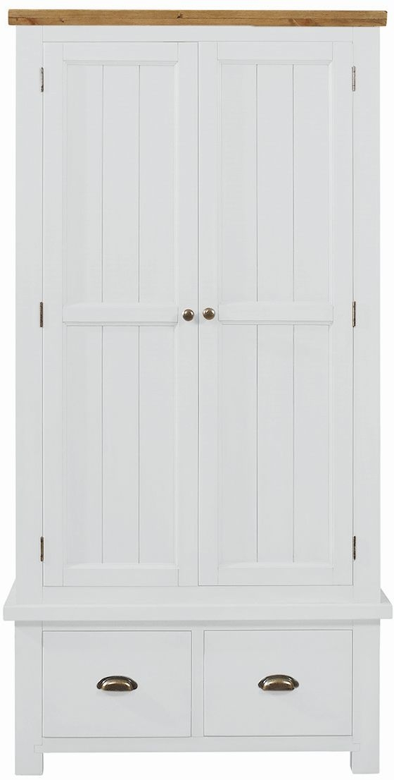 Regatta White Painted 2 Door 2 Drawer Wardrobe