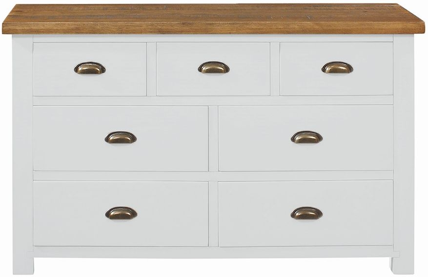 Regatta White Painted 3+4 Drawer Chest