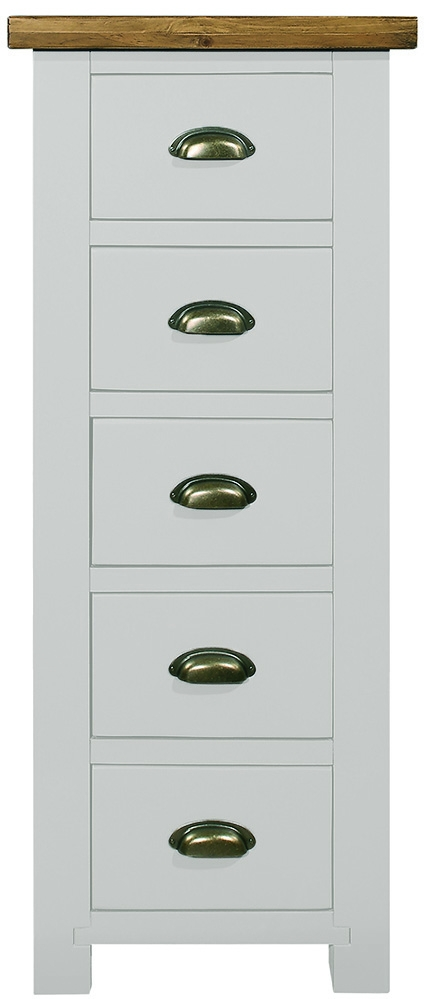 Regatta White Painted 5 Drawer Tall Chest