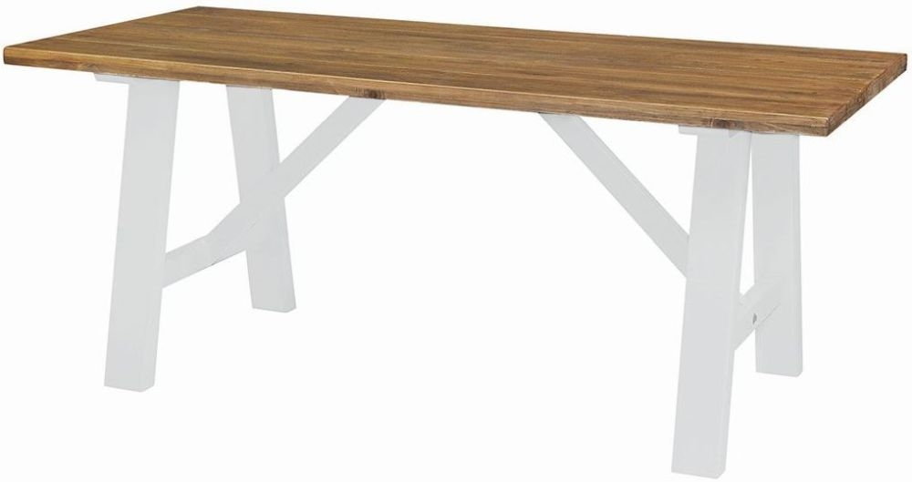 Pleasing Regatta White Painted Trestle Dining Table Cosines Gmtry Best Dining Table And Chair Ideas Images Gmtryco