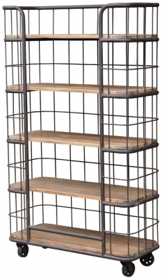 Renton Industrial Old Pine Shelf Cage