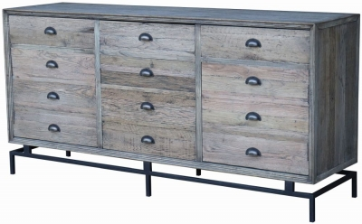 Renton Industrial Reclaimed Oak Large Sideboard