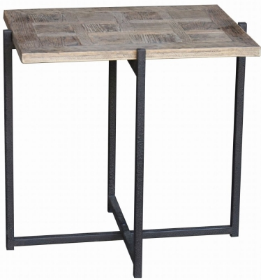 Renton Industrial Reclaimed Oak Side Table