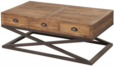 Renton Industrial Reclaimed Pine Coffee Table