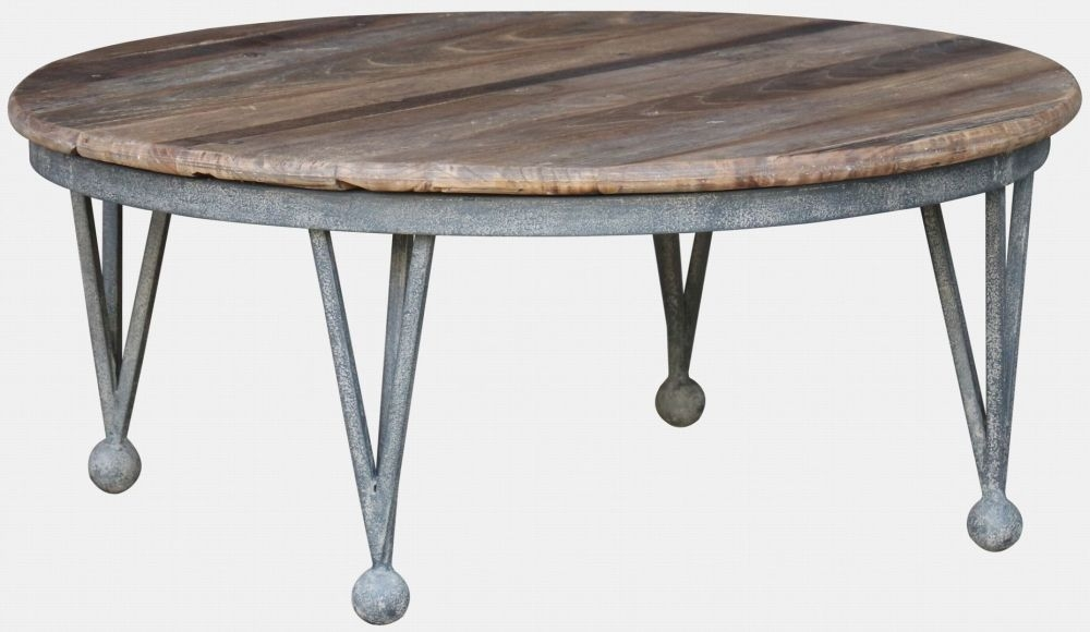 Renton Industrial Old Elm Round Coffee Table